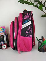 Школьный ортопедический розовый рюкзак с принтом кошка для девочки 38*30*23 см, фото 2