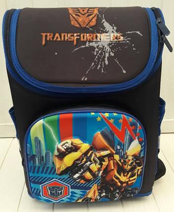 Каркасный школьный ранец Трансформеры для мальчика 36*26*17 см, фото 2