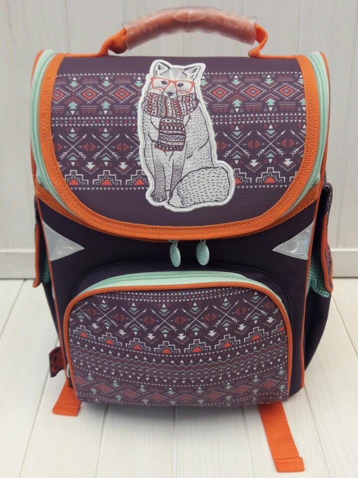 Школьный каркасный ортопедический рюкзак 1-4 класс для девочки 34*25*13 см