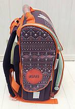 Школьный каркасный ортопедический рюкзак 1-4 класс для девочки 34*25*13 см, фото 2
