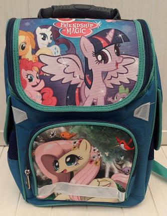 Каркасный ортопедический ранец My Little Pony для девочки 1-4 класс 34*25*13 см, фото 2