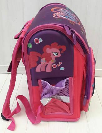Розовый каркасный школьный портфель My Little Pony для девочки 1-4 класс 32*26*20 см, фото 2