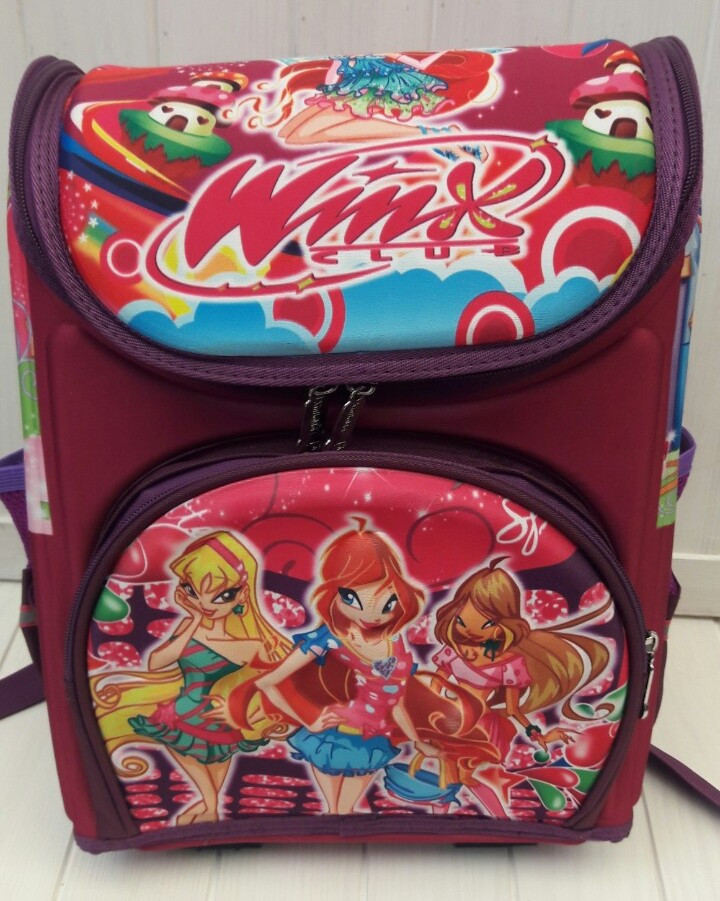 Ортопедический школьный рюкзак Winx для девочки 30*26*12 см