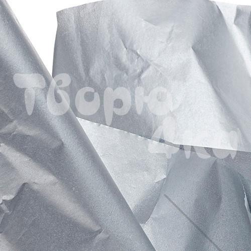 Тишью бумага декоративная серебро 50 х 70см (50 листов)