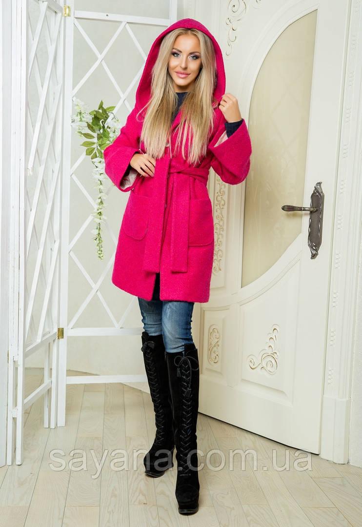 Женское кашемировое пальто с капюшоном ПН-11-1018