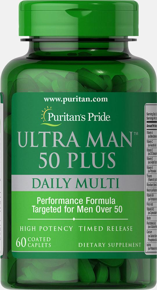 Puritan's Pride, Витаминный комплекс для мужчин 50+, 60 таблеток