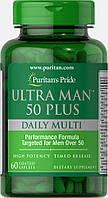 Puritan's Pride, Витаминный комплекс для мужчин 50+, 60 таблеток, фото 1