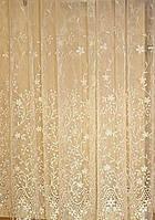 Тюль с вышивкой на карниз 2-2,5м, фото 1