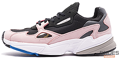 Женские кроссовки Adidas Falcon Core Black / Core Black / Light Pink B28126, Адидас Фалкон