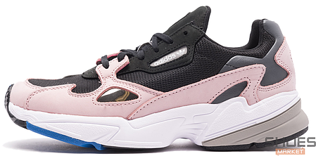 Женские кроссовки Adidas Falcon Core Black / Core Black / Light Pink B28126, Адидас Фалкон, фото 2