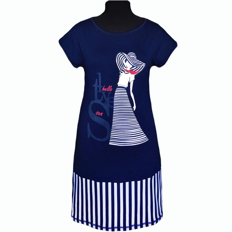 Платье с вискозы с изображением