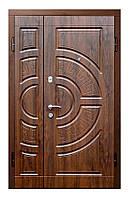Двери входные ПО-08 дуб темный Vinorit ( Ш 1200 )