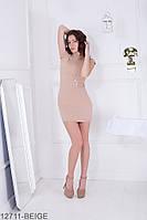 Трендовое приталенное платье-мини с коротким рукавом платье Laurel