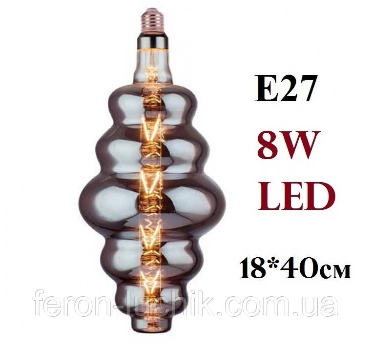 "Лампа светодиодная декоративная 8W E27 Filament Horoz ""ORIGAMI-XL"" Titanium"