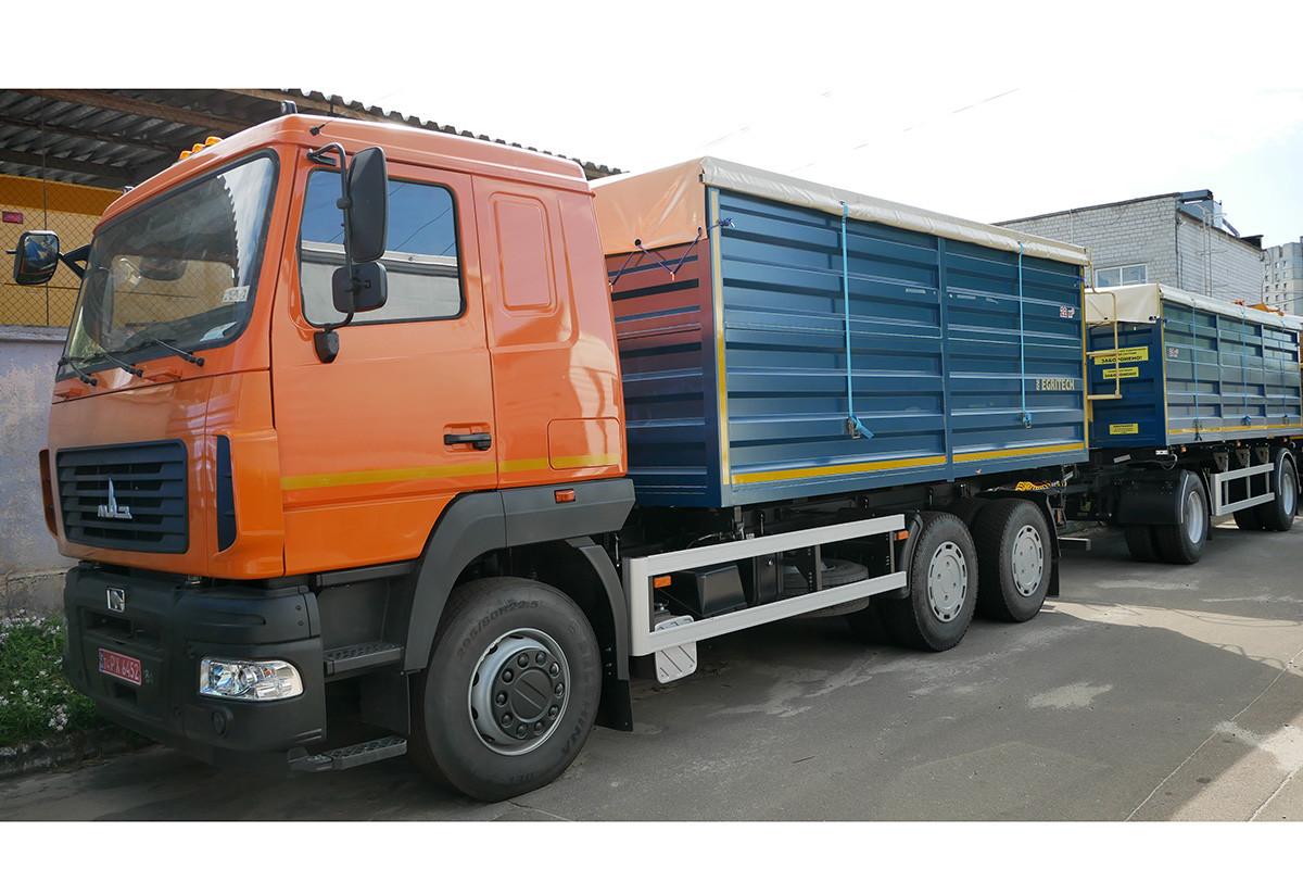 Новий грузовик зерновоз EGRITECH АСПС 1424 на базі шасі МАЗ-6501С5 + причеп зерновоз