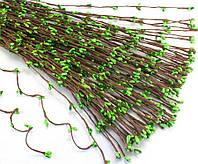 (10шт) Гибкая веточка с тычинками (длина 40см) тычинки ЗЕЛЁНЫЕ, фото 1