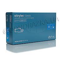 Перчатки нитриловые, неопудренные Nitrylex Classic размер М, 100 шт