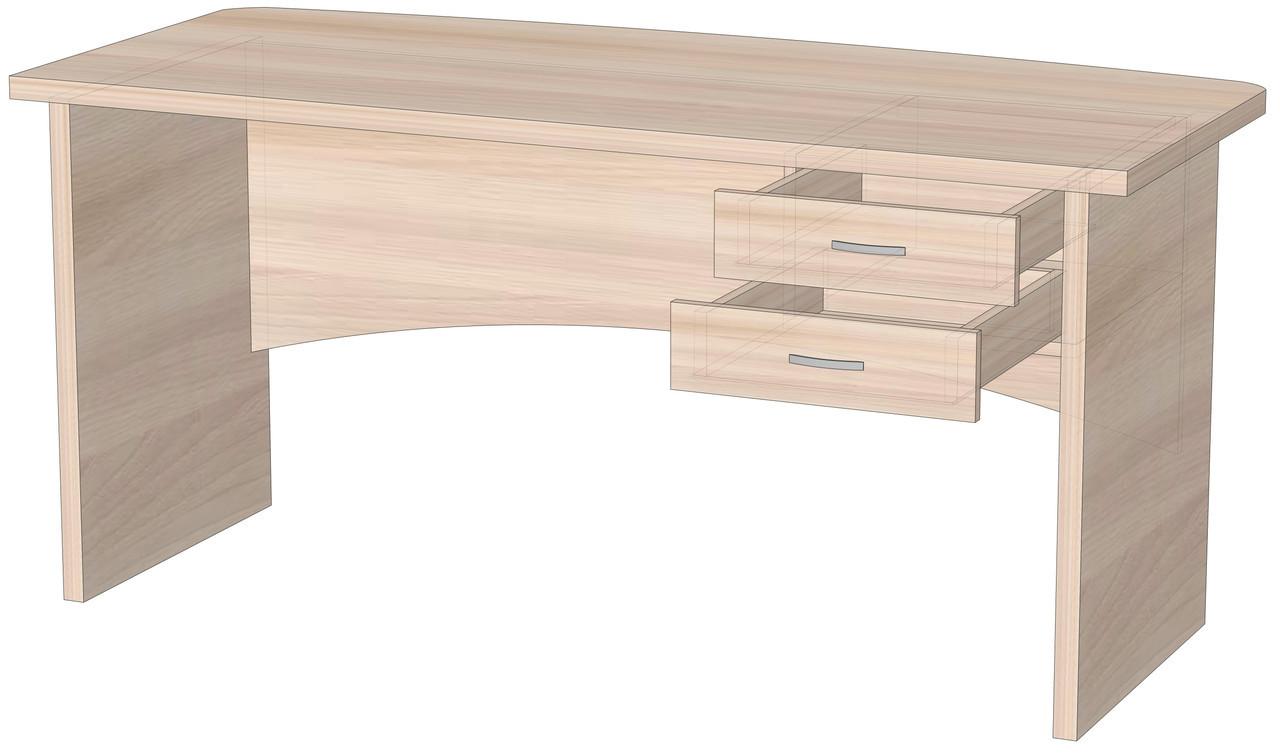 Офісний стіл для директора з ящиками в кабенет Оріон