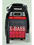 Портативная Акустическая система GOLON RX-810 BT Колонка-комбоусилитель Bluetooth + MP3, радиомикрофон, пульт,, фото 7