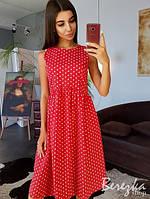 Хлопковое платье в горошек, фото 1