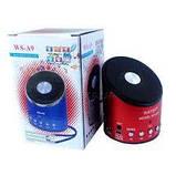 Портативная Bluetooth колонка WSTER WS-A9 MP3 Microphone FM USB аккумуляторная , фото 2