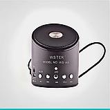 Портативная Bluetooth колонка WSTER WS-A9 MP3 Microphone FM USB аккумуляторная , фото 5
