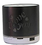 Портативная Аккумуляторная MP3 Колонка Speaker Small - S 08U Love  , фото 2