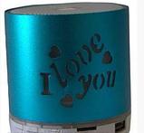 Портативная Аккумуляторная MP3 Колонка Speaker Small - S 08U Love  , фото 4