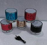 Портативная Аккумуляторная MP3 Колонка Speaker Small - S 08U Love  , фото 5