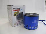 Портативная колонка WSTER WS-Q9 (Bluetooth) FM USB SDcard , фото 4