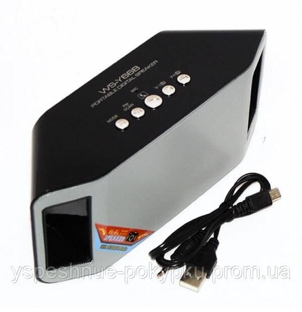 Портативная Bluetooth колонка WATER WS-Y66B радиоприемник колонка wster музыкальная блютуз колонка