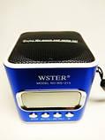 Компактная портативная колонка с USB CardReader и FM WSTER WS-215 , фото 3