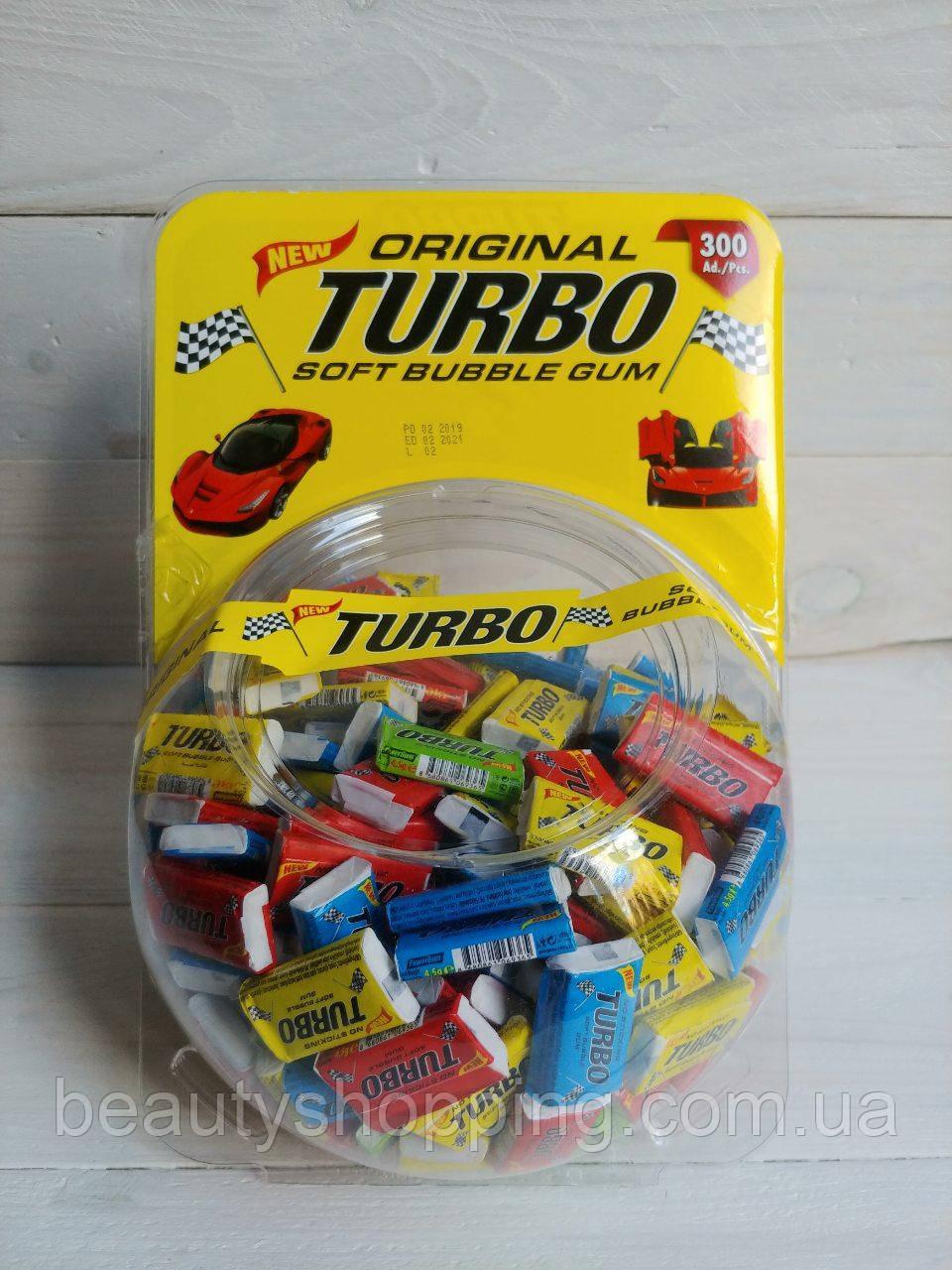 Turbo Original жевательные резинки с фруктовым вкусом 300 шт Турция