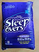 """Подгузники-трусики для детей при ночном недержании """"SLEEP OVERS"""" JUMBO"""