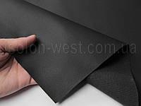 Биэластик, кожзам тягучий черный текстурирований для перетяжки салона авто