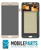 Дисплей для Samsung J701 Galaxy J7 Neo (2017) с сенсорным стеклом (Золотой) TFT подсветка оригинал