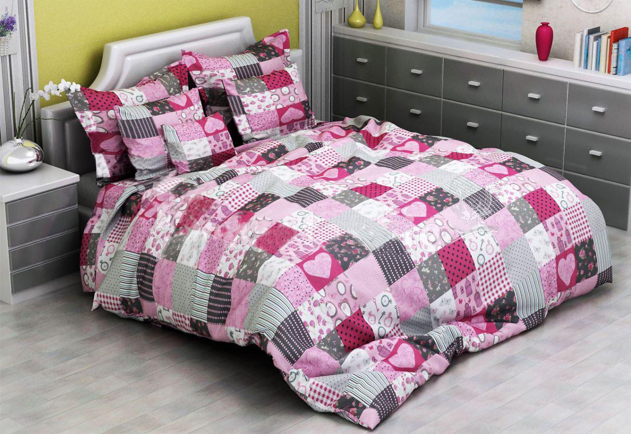 Комплект постельного белья евро Сакура