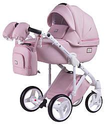 Детская коляска универсальная 2 в 1 Adamex Luciano кожа 100% Q110 (Адамекс Лусиано, Польша)