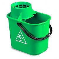 Ведро EASY с отжимом 14л зеленого цвета