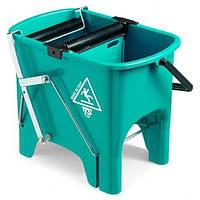 Ведро для уборки с отжимом SQUIZZY 15л зеленого цвета