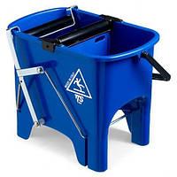 Ведро для уборки с отжимом SQUIZZY 15л синего цвета