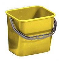 Відро для прибирання з ручкою 12л жовтого кольору
