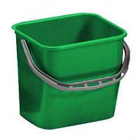 Ведро для уборки с ручкой 12л зелёного цвета