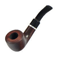Курительная трубка B&B 2 x 2.3 см Черная с коричневым
