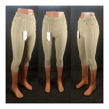 Бриджи джинсовыйстрейч в классическом стиле S/M 44/46, светло - горчичный