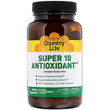 "Антиоксиданты Country Life ""Super 10 Antioxidant"" (120 таблеток)"