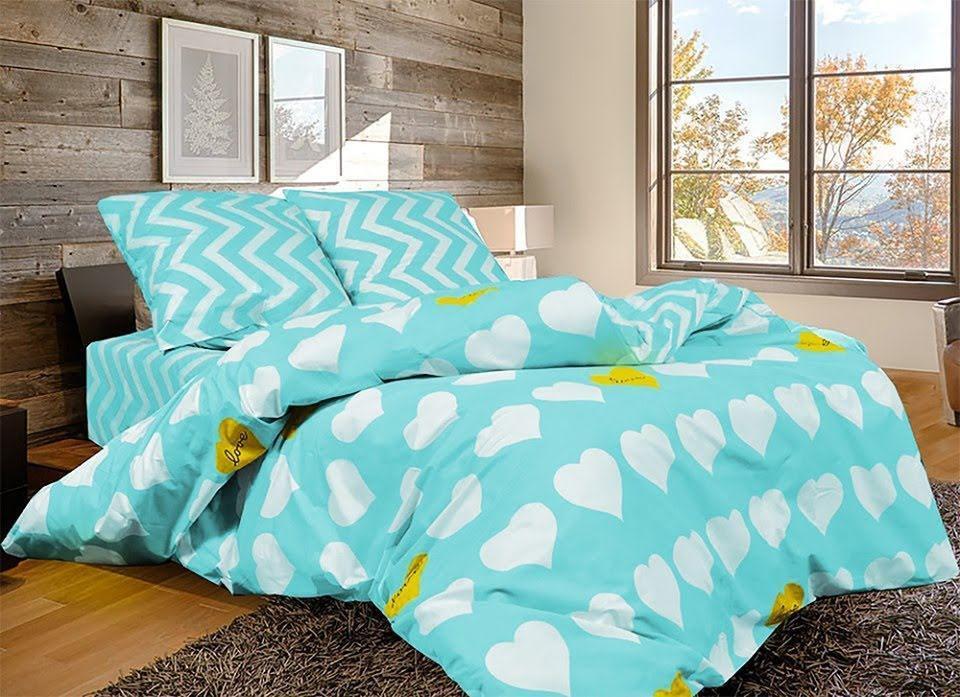 Комплект двуспального постельного белья Амур бирюза