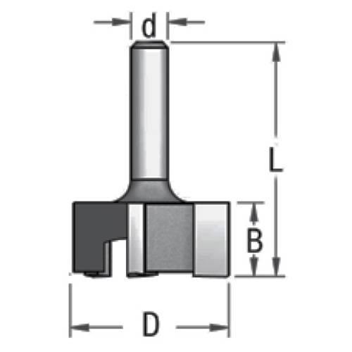 Фреза 3х ножевая для выравнивания поверхности D28,5 d6 P322853