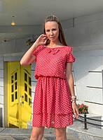 Шифоновое платье в горошек, фото 1