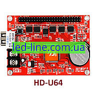 Контроллер HD-U64 huidu для LED дисплея, бегущей строки, светодиодного рекламного экрана